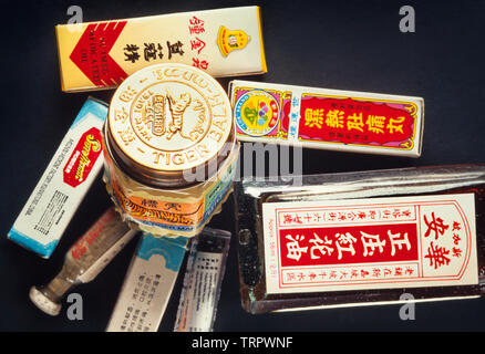 Chinese commercial medications - Stock Image