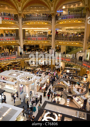 Interior Galeries Lafeyette Paris France - Stock Image