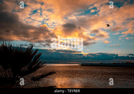 Concord Beach on the seafront of Canvey Island, Essex, Britain - Stock Image
