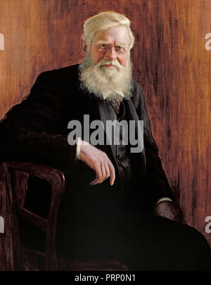 Alfred Russel Wallace, (8 January 1823 - 7 November 1913) was an English naturalist, explorer, geographer, anthropologist, and biologist. - Stock Image