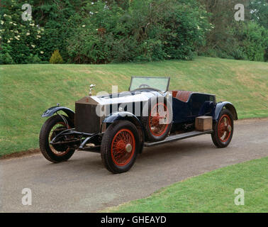 1919 Rolls Royce 40 50 HP Silver Ghost tourer Country of origin United Kingdom - Stock Image