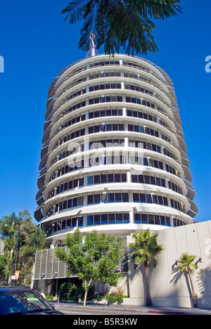 Capitol Records major United States based record label, owned by EMI  Hollywood, Los Angeles CA California headquarters - Stock Image