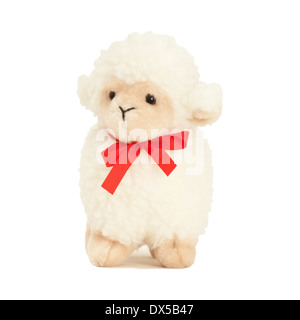 Soft toy woolly lamb close-up - Stock Image