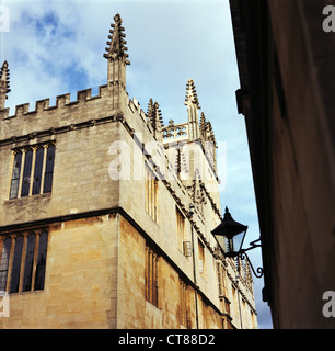 Old Bodleian Library, Radcliffe Square, Oxford. Late summer weather. - Stock Image