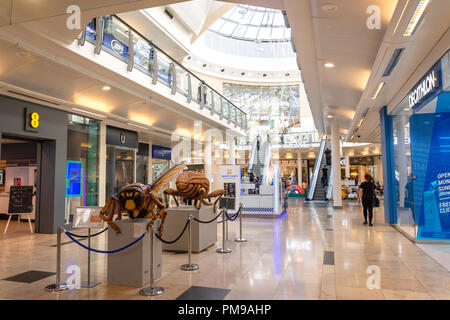 Interior of The Chimes Shopping Centre, Uxbridge, London Borough of Hillingdon, Greater London, England, United Kingdom - Stock Image