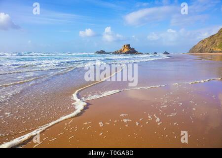 Algarve beach Portugal Praia do Castelejo beach near Vila do Bispo Algarve Portugal EU Europe - Stock Image
