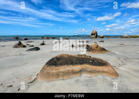 Interesting rock formations at Quintell Beach, Lockhart River, Cape York Peninsula, Far North Queensland, FNQ, QLD, Australia - Stock Image