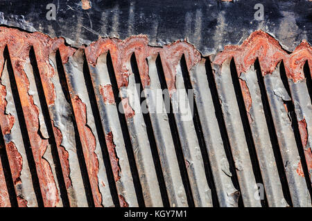 rusting steel background - Stock Image
