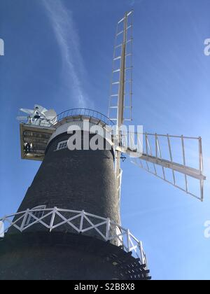 Bircham windmill in Norfolk. - Stock Image