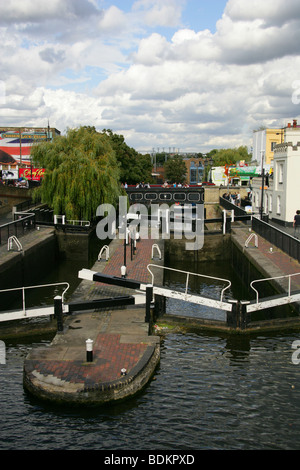 Hampstead Road Lock or, as it is More Commonly Known, Camden Lock, London, UK. - Stock Image