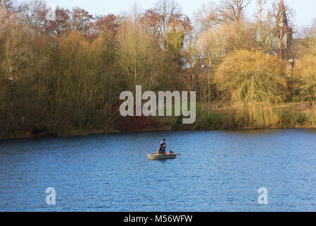 Sport fishing on a lake - Stock Image