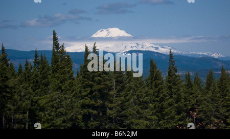 Mt Hood from Post Canyon, Hood River, Oregon - Stock Image