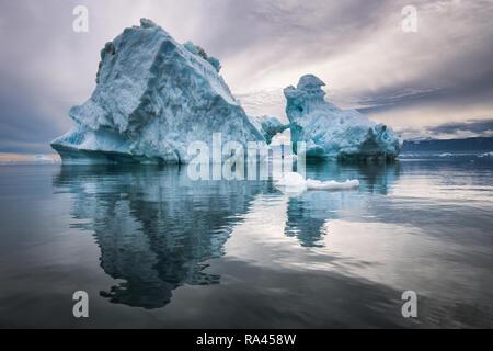 Icebergs of Disco Bay, Greenland - Stock Image