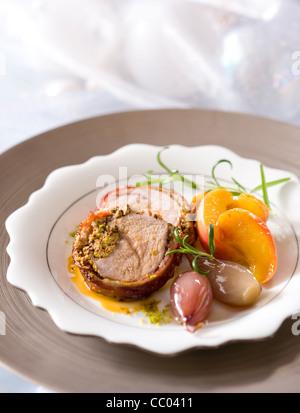 Veal Filet Pie - Stock Image