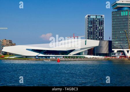 Amsterdam, Netherlands - April 2019; The Eye film museum, Noord district. - Stock Image
