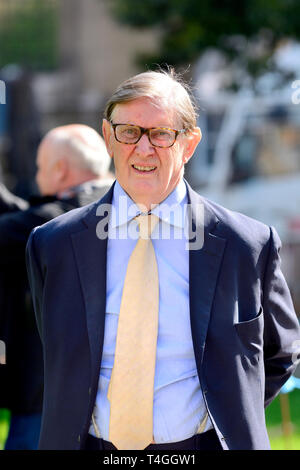 Bill Cash / Sir William Cash MP (Conservative: Stone in Staffordshire) on College Green, Westminster, April 11th 2019 - Stock Image