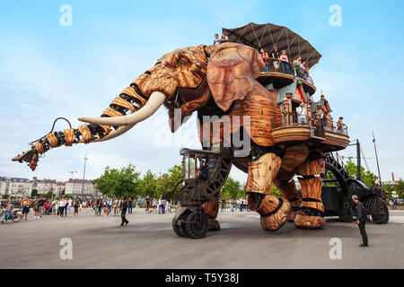NANTES, FRANCE - SEPTEMBER 16, 2018: Machines of the Isle of Nantes is a artistic, touristic and cultural project based in Nantes, France - Stock Image