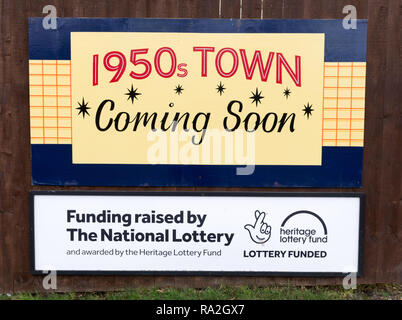Heritage Lottery funded project at Beamish  Museum, a 1950s town, north east England, UK - Stock Image