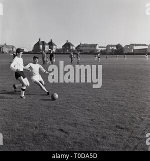 1965, amateur football, Aylesbury, Hertfordshire, England, UK. - Stock Image
