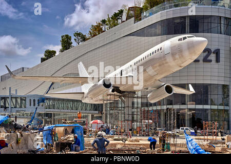 Terminal 21 Pattaya. Thailand construction site of new, modern theme shopping mall. Southeast Asia - Stock Image