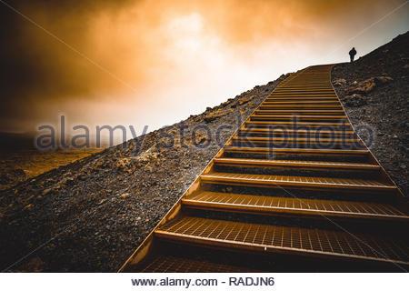 Volcano Path, Iceland - Stock Image
