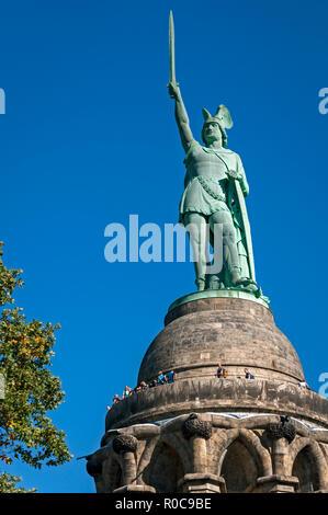 The Hermann Monument near Detmold, North Rhine-Westphalia, Germany. - Stock Image