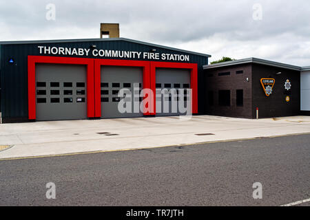Thornaby Community Fire Station, Thornaby on Tees, Cleveland, England - Stock Image