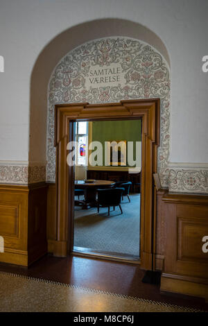 Conversation Room at Christiansborg Palace Slotsholmen with the Danish parliament - Stock Image