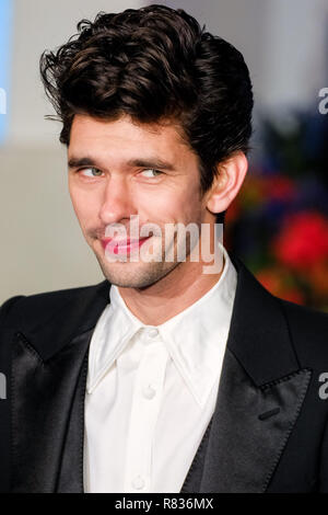 London, UK. 12th December, 2018. Ben Whishaw at the European Premier of Mary Poppins Returns on Wednesday 12 December 2018 held at The Royal Albert Hall, London. Pictured: Ben Whishaw. Credit: Julie Edwards/Alamy Live News - Stock Image