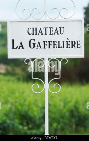 chateau la gaffeliere saint emilion bordeaux france - Stock Image