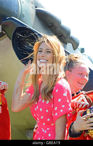 Stacey Solomon at Armed Forces Day event - Stock Image