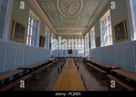 Emmanuel College hall - Stock Image