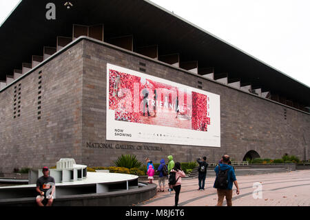 NGV Triennial 2018 at National Gallery of Victoria, Melbourne, Australia - Stock Image