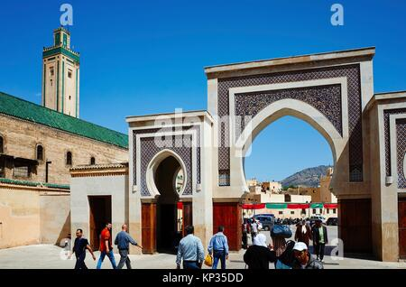 Bab Rcif gate to the medina of Fez, Morocco - Stock Image