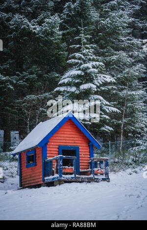 Childs play-hut, Mount Floyen, Bergen, Norway. - Stock Image