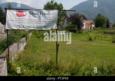 Slow Food agricultural education project near Domodossola, Piedmont, Italy - Stock Image