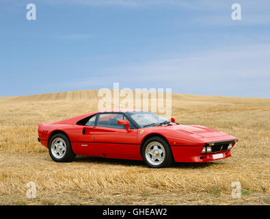 1986 Ferrari 288 GTO Belinetta 2 8 litre twin turbo engine developing 400bhp and capable of reaching 189mph Country - Stock Image
