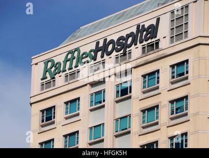 Raffles Hospital Singapore - Stock Image