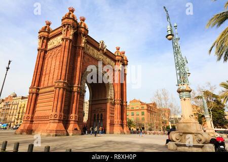 Arc de Triomf, Barcelona, Catalunya, Spain - Stock Image