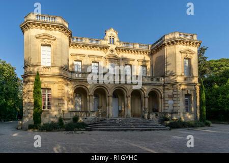 Chateau de Montauban, summer residenz of Alphonse Daudet,  Fontvielle, Provence - Stock Image