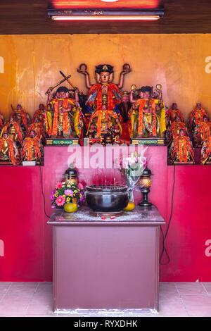 The tai sui shrine at Putian Temple in Hsinchu, Taiwan. - Stock Image