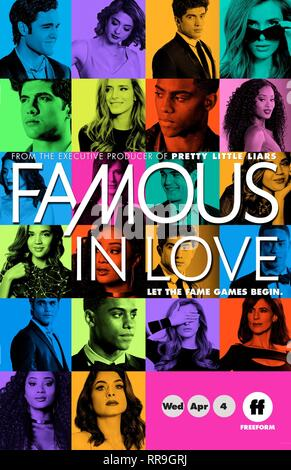 FAMOUS IN LOVE, MOVIE POSTER, 2017 - Stock Image