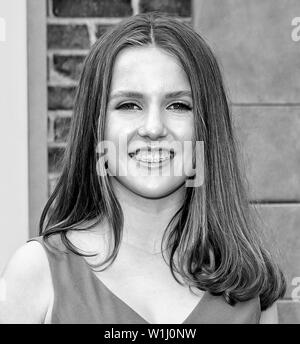 Los Angeles, CA - June 02, 2019: Kiely Renaud attends the Premiere Of Universal Pictures' 'The Secret Life Of Pets 2' held at Regency Village Theatre - Stock Image