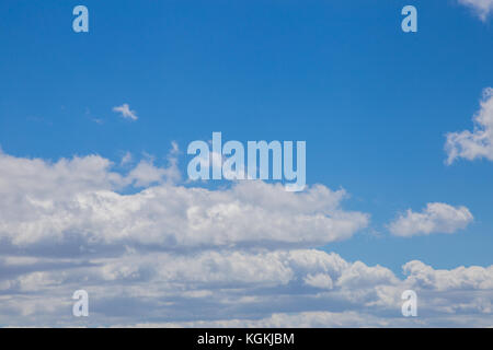 The blue sky with white clouds - Stock Image