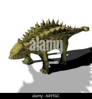The Talarurus is called basket tail and in the upper jurassic period occurred. The length amounted to approx. 6 - Stock Image