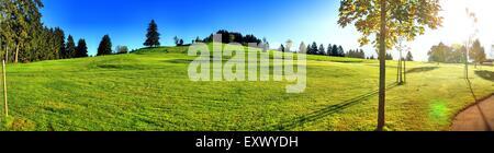 Golf course, Lechbruck, Allgaeu, Bavaria, Germany, Europe - Stock Image