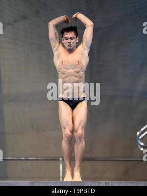Great Britain's Thomas Daley during day three of the Diving World Series at London Aquatics Centre, London. - Stock Image