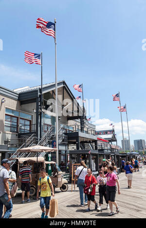 Pier 17 New York City - Stock Image