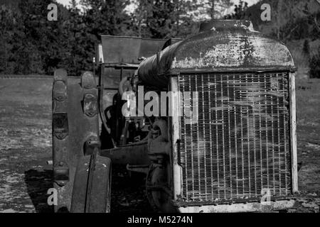 old tractor - Stock Image