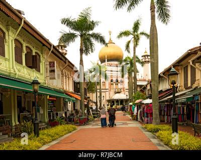 Mosque in Arab Quarter Singapore - Stock Image